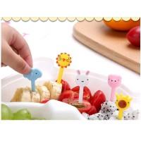 HEWAN Garpu Tusuk Tusukan Buah Makanan Bento Fruit Fork Food Pick Set