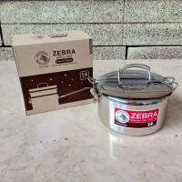 ZEBRA LUNCH BOX STAINLESS ROUND SHAPE 14 CM RANTANG SINGLE - 152314