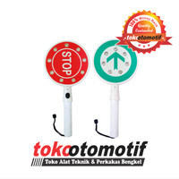 Lampu Sign Stop / Lampu Parkir / Rambu Tangan Sign Elektronik Portabel
