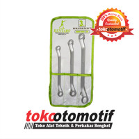 Kunci Ring Set 3pcs (8x10, 12x14, 17x19mm) Merk KENTARO