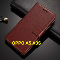 Flip Cover OPPO A5 A3S OPPOA5 OPPOA3S Wallet Leather Case Casing HP