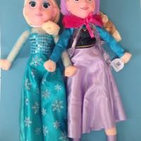 Boneka Frozen fever Anna & Elsa :Muka Karet