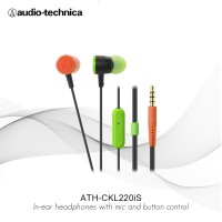 FLASH SALE Audio Technica ATH-CKL220iS BCZ In-Ear Headphone with Mic