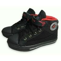 Armas Andy red Boot - sepatu sekolah anak laki hitam
