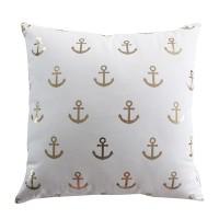 Harriet & Co - Anchor Gold Foil Cushion Cover