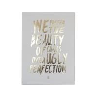 Harriet & Co - Beauty of Chaos Gold Foil A4 Wall Art