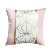 Harriet & Co - Geo Blush Gold Foil Cushion Cover