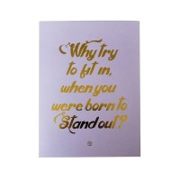 Harriet & Co - Stand Out Gold Foil A4 Wall Art