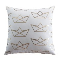 Harriet & Co - Origami Boat Gold Foil Cushion Cover