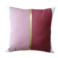 Harriet & Co - Dusty Rose x Terracotta with Gold Foil Cushion Cover