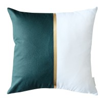 Harriet & Co - Pine Green with Gold Foil detail Cushion Cover