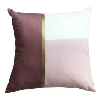 Harriet & Co - Blush x Dusty Rose with Gold Foil Cushion Cover