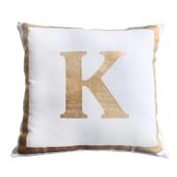 Harriet & Co - Letter K Gold Foil Cushion Cover