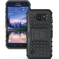 BOOMING Samsung Galaxy S6 Active G890 - 2in1 Hybrid Armor Hard Soft Ca