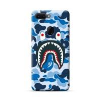 bape shark blue case oppo f9 f7 f5 f3 f1s a3s vivo v11 v9 v7 v5 y71 dl