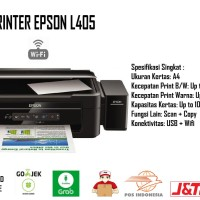 Printer Epson L405 Wifi Print Scan Copy Garansi Resmi