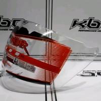 Kaca helm visor helm gm evo putih/bening hitam