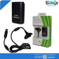 batre baterai battery play & charge kit stik stick xbox 360 4800mah