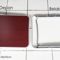 Meja Lipat Koper Kecil 50X70Cm Portable Praktis Simple Serbaguna Murah