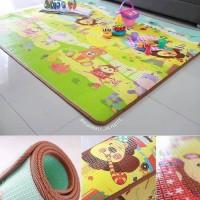 Karpet bayi PARKLON Korea Safari Alphabet Baby Playmat Roll Play Mat