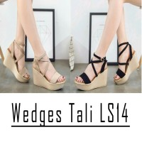 Wedges Kokop Silang Suede Ad01 - Wedges tali ls14