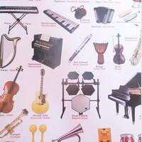 poster anak pengenalan alat musik masa kini