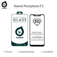 Xiaomi Pocophone F1 Tempered Glass 5D Color Full Cover Ambigo Original