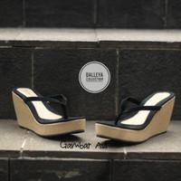 NOLLY - Dalleya sandal wedges wanita hak tinggi casual murah trendy