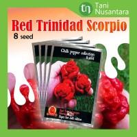 Benih Biji Tanaman Cabe Cabai Red Trinidad Scorpio Mouruga Blend 8seed