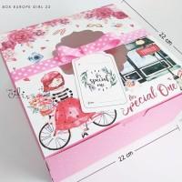 (DUS EUROPE GIRL22) kotak kue hadiah pink girly FREE pita dan tag