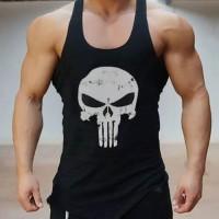 Singlet gym fitness kaos tanktop pria cowok
