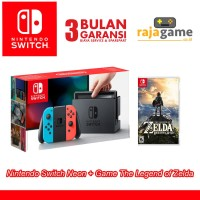 Jual Nintendo Switch Console Neon Bundling The Legend of Zelda Murah