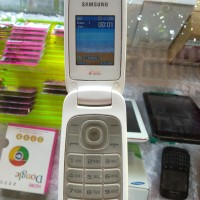Samsung Flip Caramel Duos e1272 HP Lipat Dual SIM Second Normal