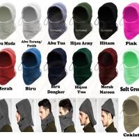 Balaclava Polar Masker Multifngsi 6 in 1 Plava Ninja Syal Kupluk Ninja