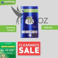 Baterai Hippo Samsung Galaxy Young 2 G130 1600 mAh Garansi Resmi