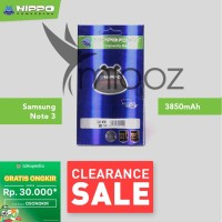 Baterai Hippo Samsung Galaxy Note 3 N9000 3600 mAh Garansi Resmi