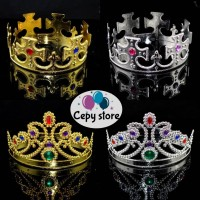 Mahkota Pesta / Ratu, Crown Party King / Queen ( Gold & Silver)