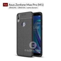 Premium TPU Case Autofocus Leather Asus Zenfone Max Pro (M1) ZB602KL