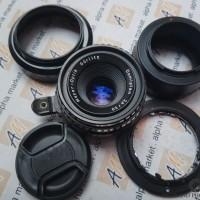 MULUS Lensa Manual Fix Meyer MOG Domiplan 50mm f2.8 BUBBLE BOKEH sony