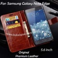 Samsung galaxy Note edge / Note 4 edge Flip Pu Leather Wal Berkualitas