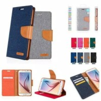 Flip Cover Canvas Diary Case Samsung A6 Plus 2018 /Original/Dompet Hp