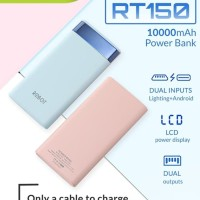 Power Bank ROBOT RT150 LCD 10.000 mah - Powerbank LCD ROBOT 10000mah