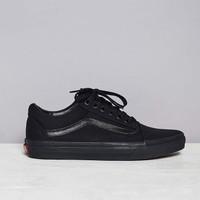 Sepatu Pria Vans Old Skool Classic Full Black Original BNIB