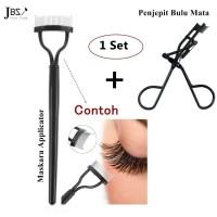 JBS NY Makeup Brush Mascara Applicator (K084 + Penjepit Bulu Mata)