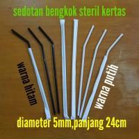 sedotan tekuk steril bungkus kertas/higienis paper + flexible bengkok