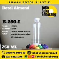 Botol Almond Plastik 250 ml (I) / Botol Jus / Botol minum / Pet /murah