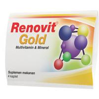 RENOVIT GOLD Multivitamin & Mineral Strip 4 Sehat & Aktif di Usia 50