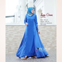 Baju gamis wanita muslim LUNA GOWN Ory by Mozbue