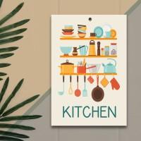 Pajangan Dinding Hiasan Ruangan Dekorasi Kitchen - J015
