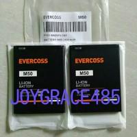 Baterai Handphone Evercoss M50 Dobel Power Original OEM Batre HP Batu